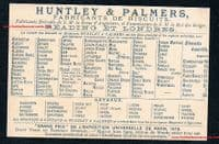 1878 -dated golfing rarity by Huntley & Palmers biscuits original French trade card